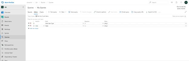 Azure devOps queries