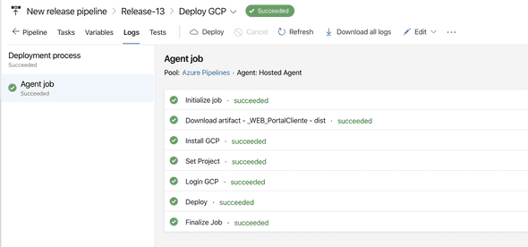 GCP desde Azure DevOps