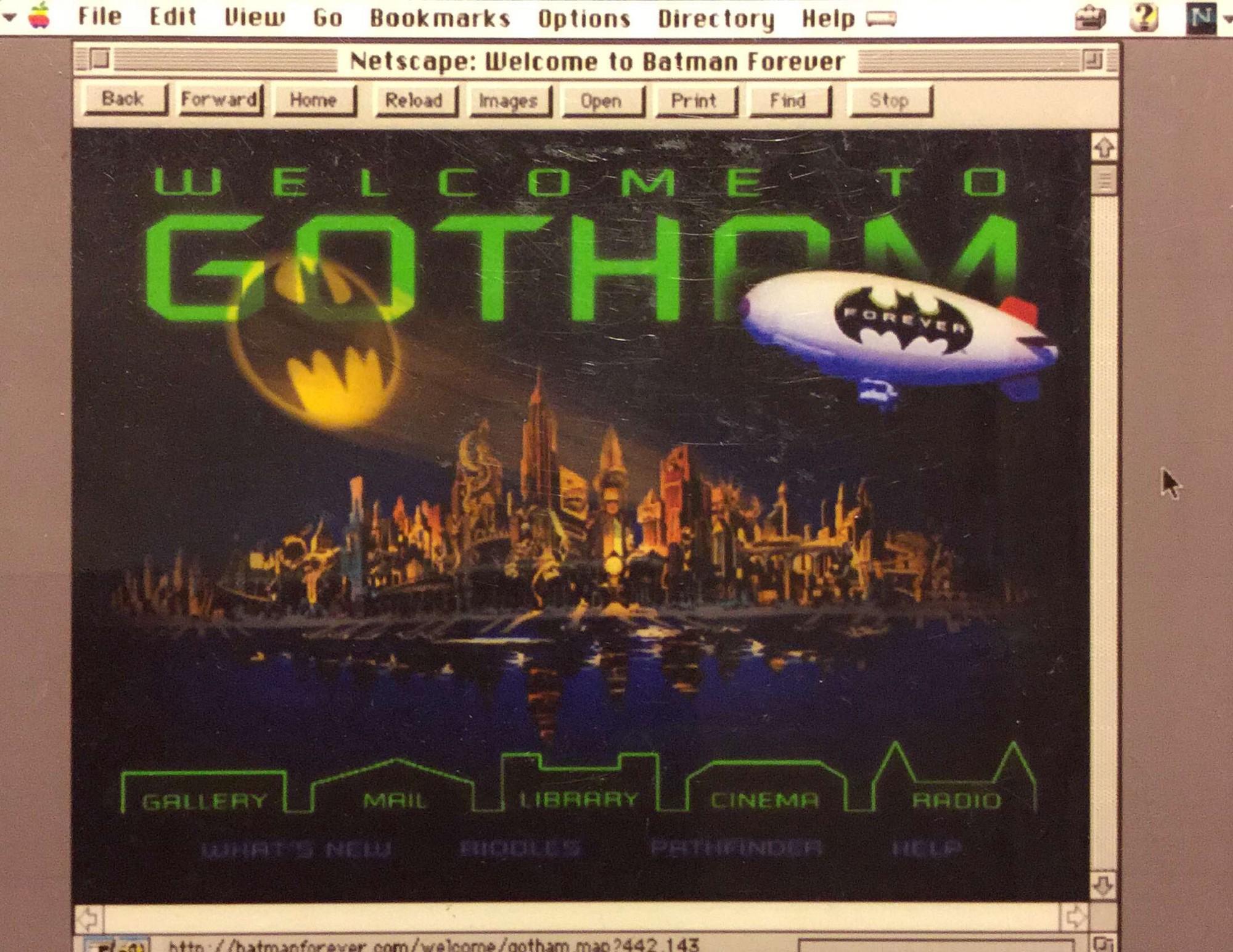 web de Batman Forever de Jeffrey Zeldman