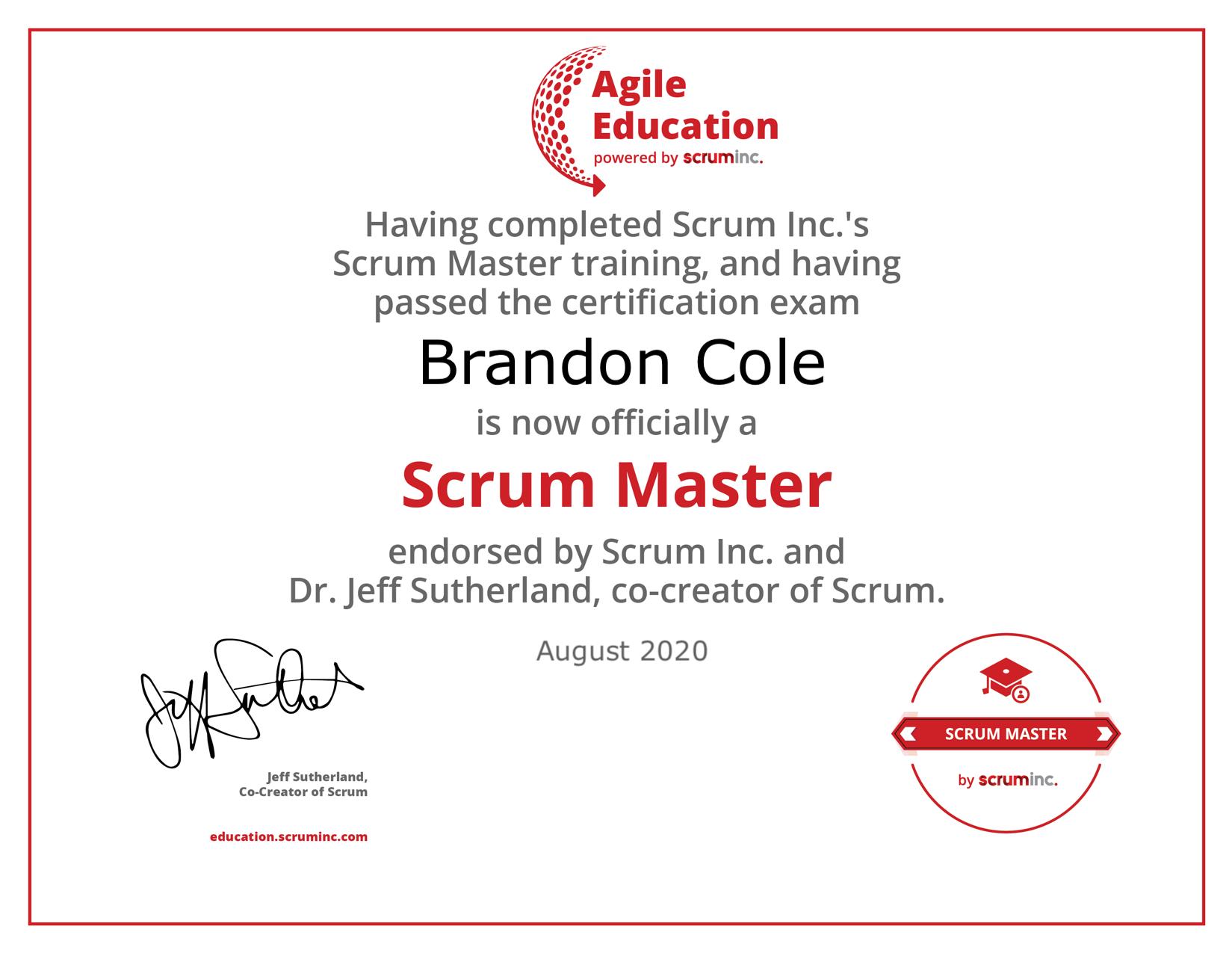 scrum master diploma