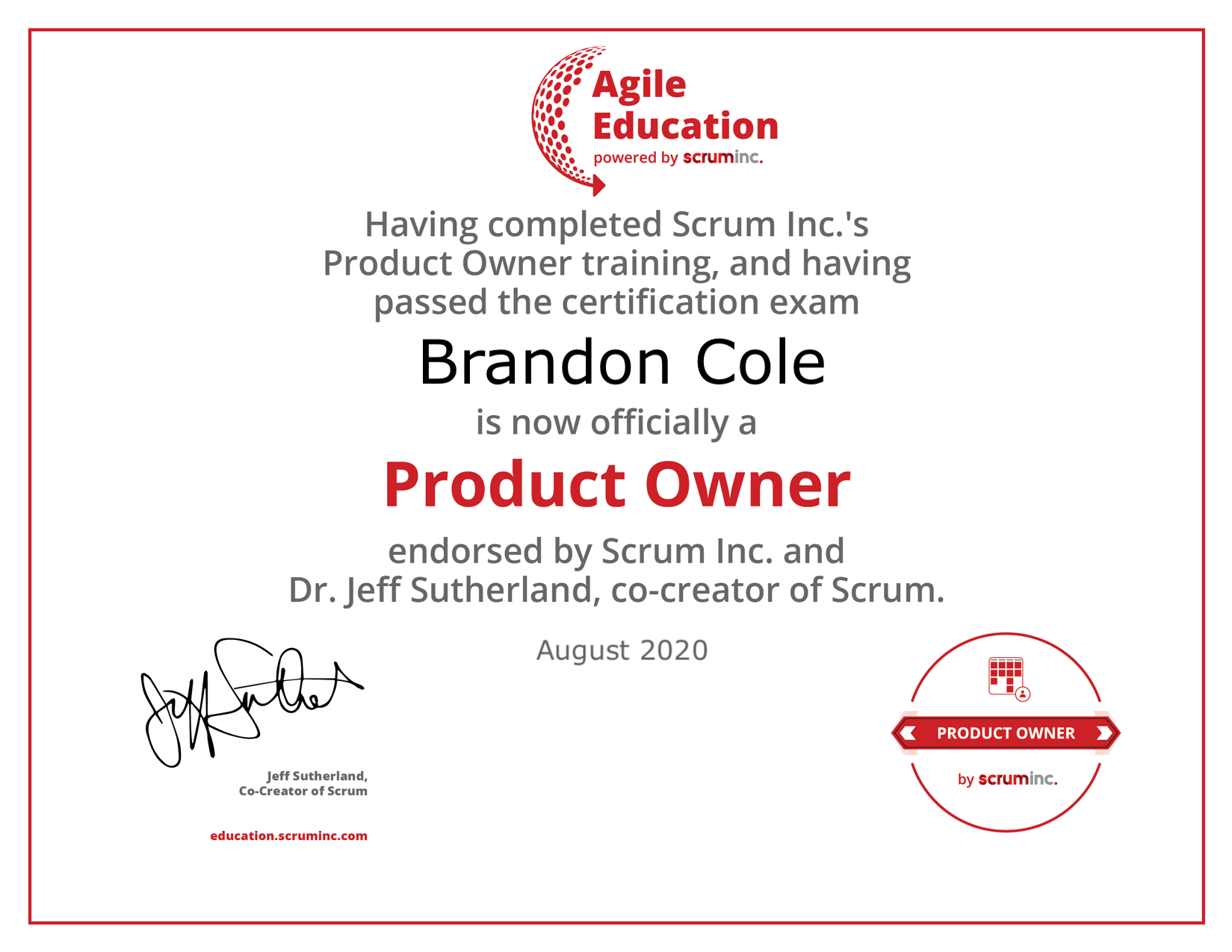 product owner diploma