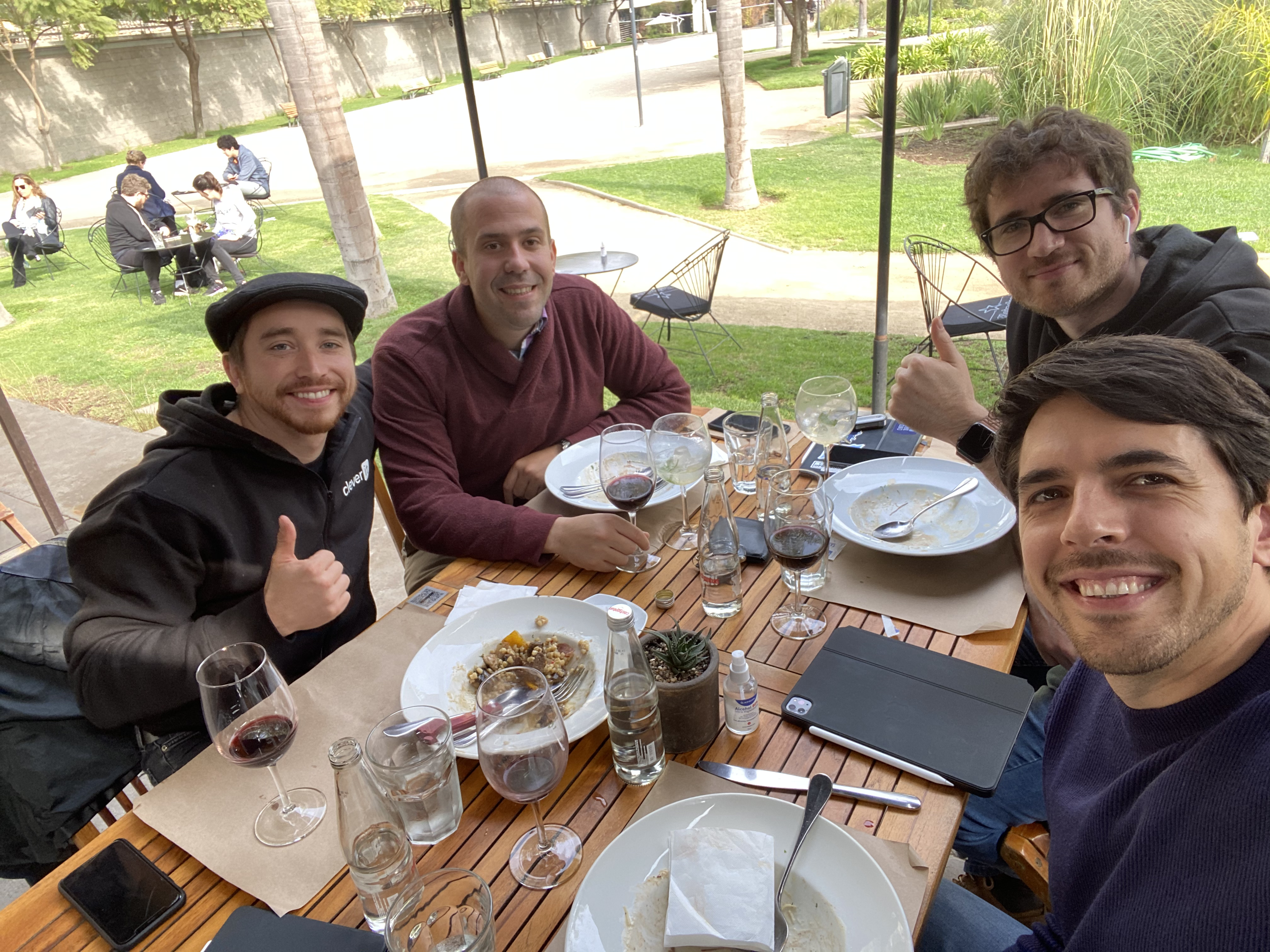 Founders at lunch