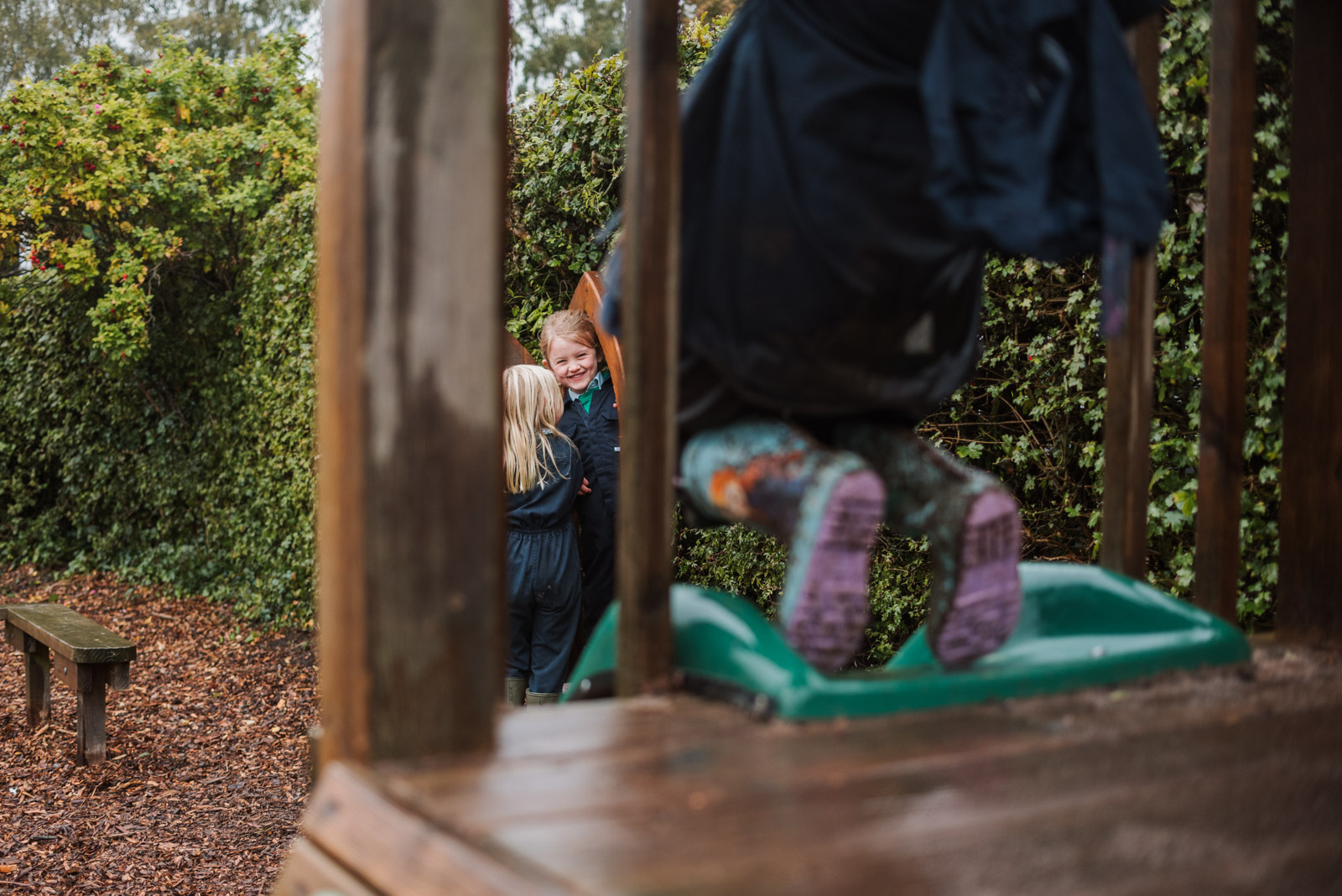 Professional brand school photography, children playing outside