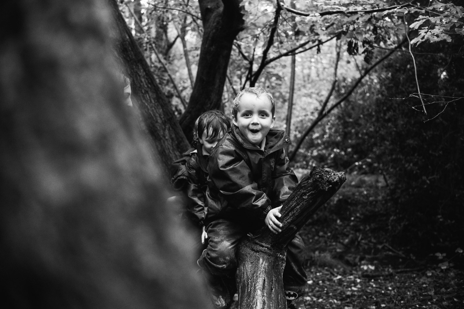 Natural school photography of forest school at Berkshire school Thorngrove
