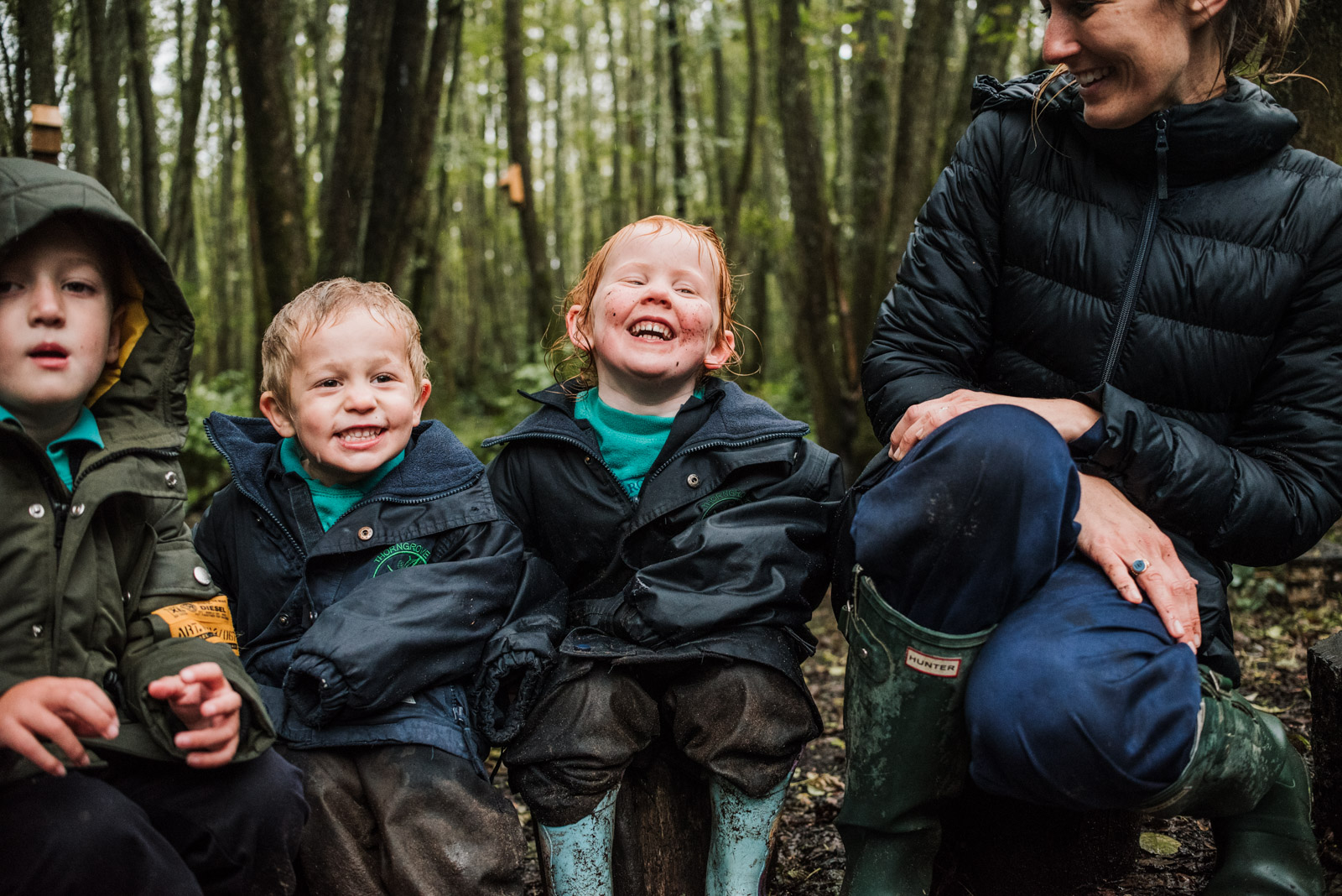 Natural school photography by The Ginger Collective of forest school at Berkshire school Thorngrove