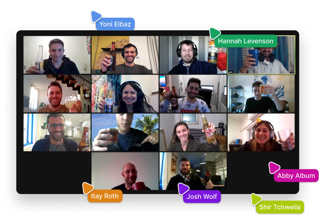 Loox team on a video call