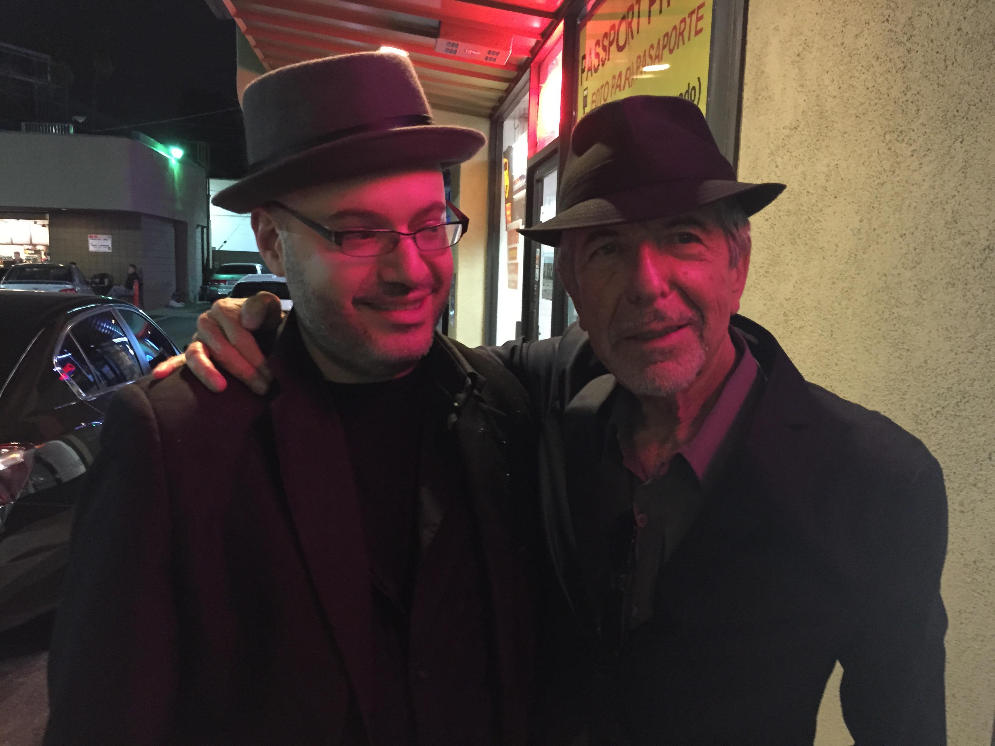 David Yaffe and Leonard Cohen