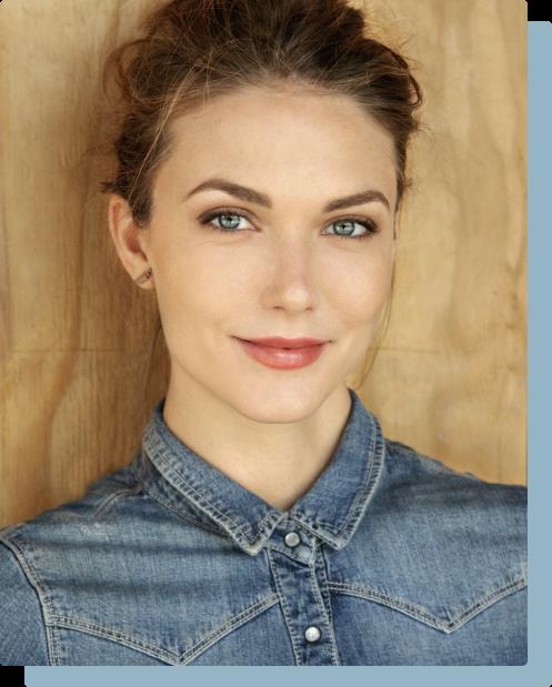 Headshot of Jessamine in denim shirt
