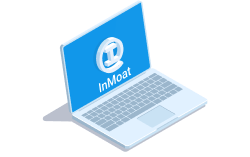 A laptop with InMoat loaded