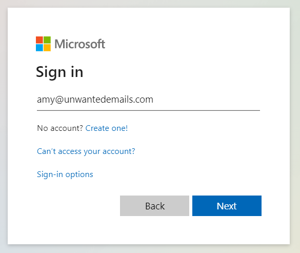Sign in with Outlook