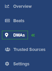 Select a DMA in your InMoat dashboard