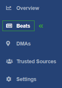Selecting Beats in your InMoat dashboard