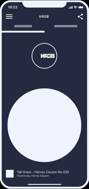 KRGB iOS app on iPhone