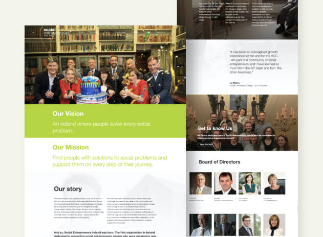 Our work: Click here for our Social Entrepreneurs Ireland case study