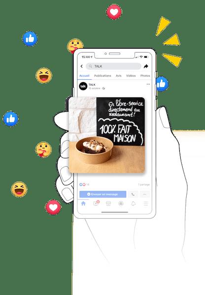 Talk, la solution qui gère et développe vos réseaux sociaux.