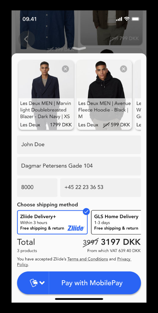 3-hour delivery with Zliide Delivery+