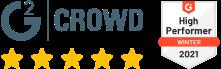G2 5 stars rating
