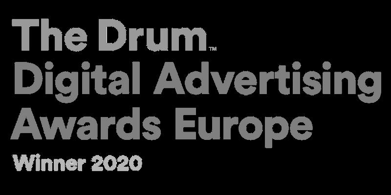 The Drum Digital Advertising Awards Europe Winner 2020
