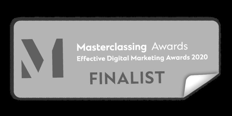 Masterclassing Awards Effective Digital Marketing Awards 2020 Finalist