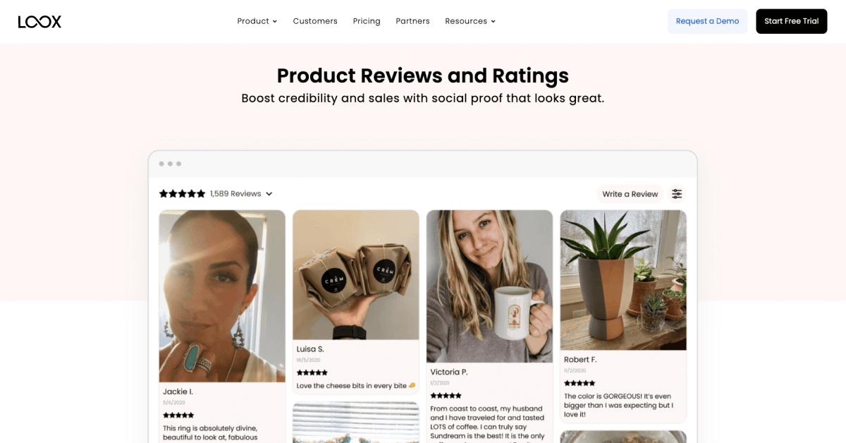 Yotpo alternative - Loox Product Reviews