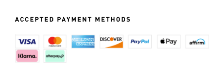 A good way of displaying payment methods