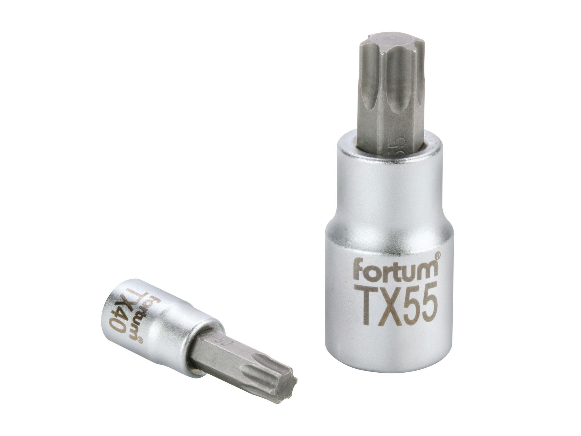 """hlavice zástrčná hrot TORX, 1/4"""", TX 15, L 37mm"""