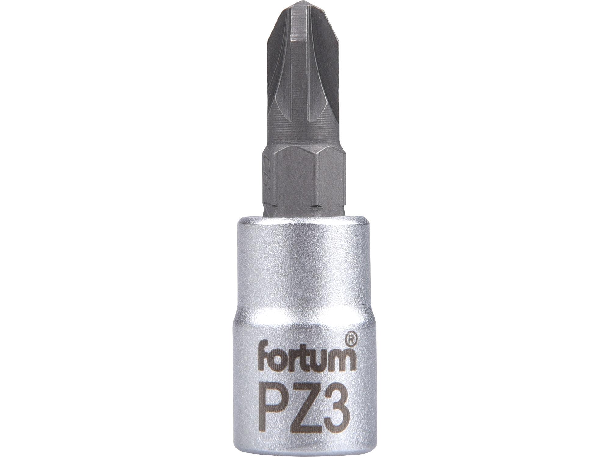 """hlavice zástrčná 1/4"""" hrot pozidriv, PZ 3, L 37mm"""