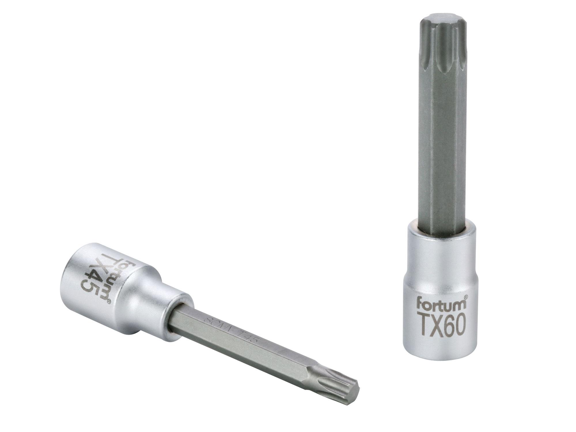 "hlavice zástrčná prodloužený TORX, 1/2"", TX 40, L 100mm, CrV/S2"