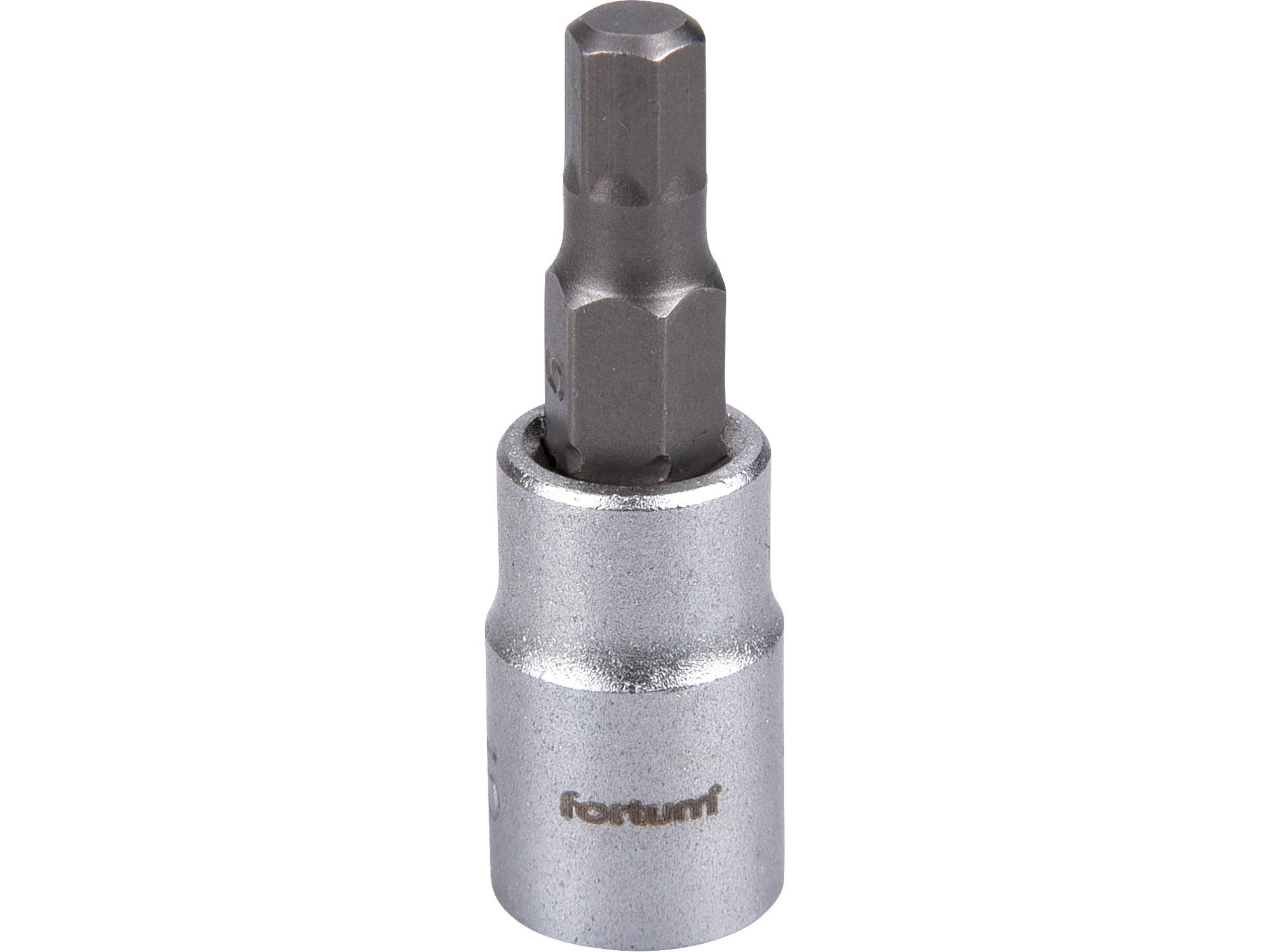 """hlavice zástrčná 1/4"""" imbus, H 5, L 38mm"""