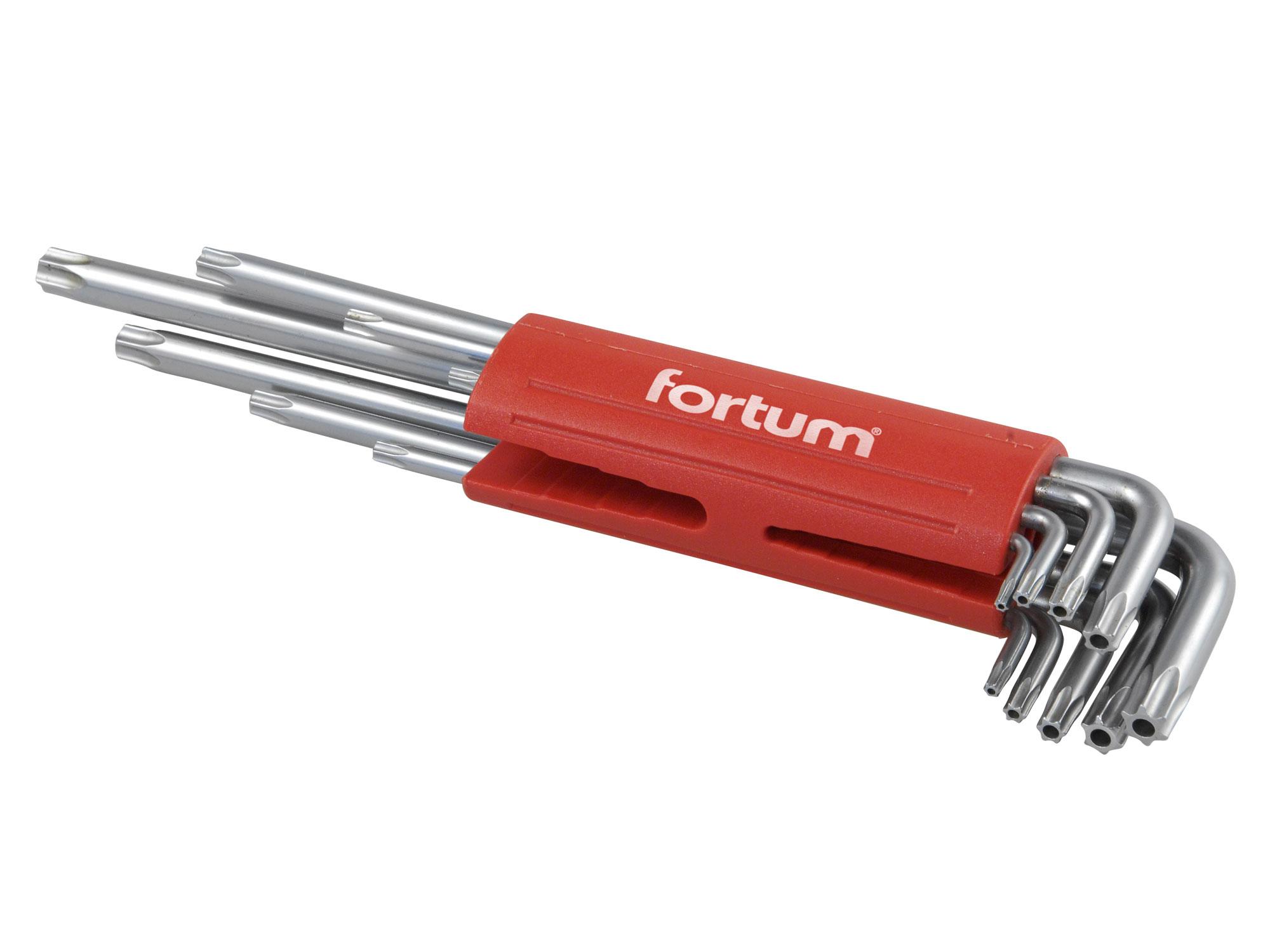 L-klíče TORX vrtané, prodloužené, sada 9ks, 10-50mm