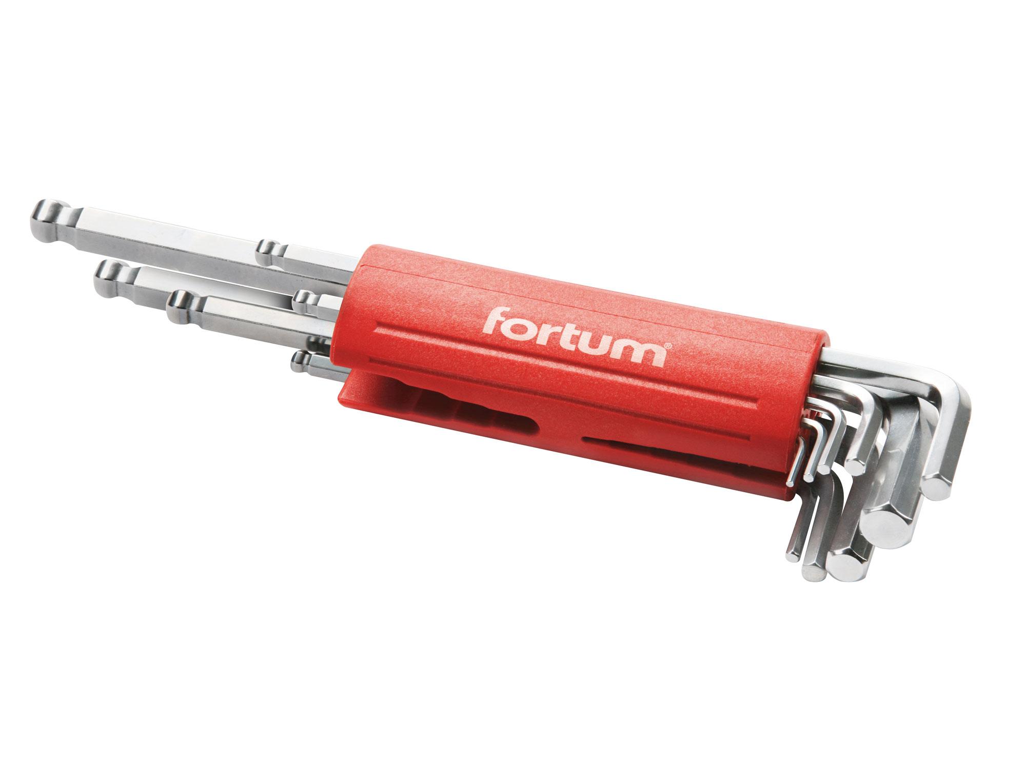 L-klíče imbusové prodloužené, sada 9ks, 1,5-2-2,5-3-4-5-6-8-10mm, S2