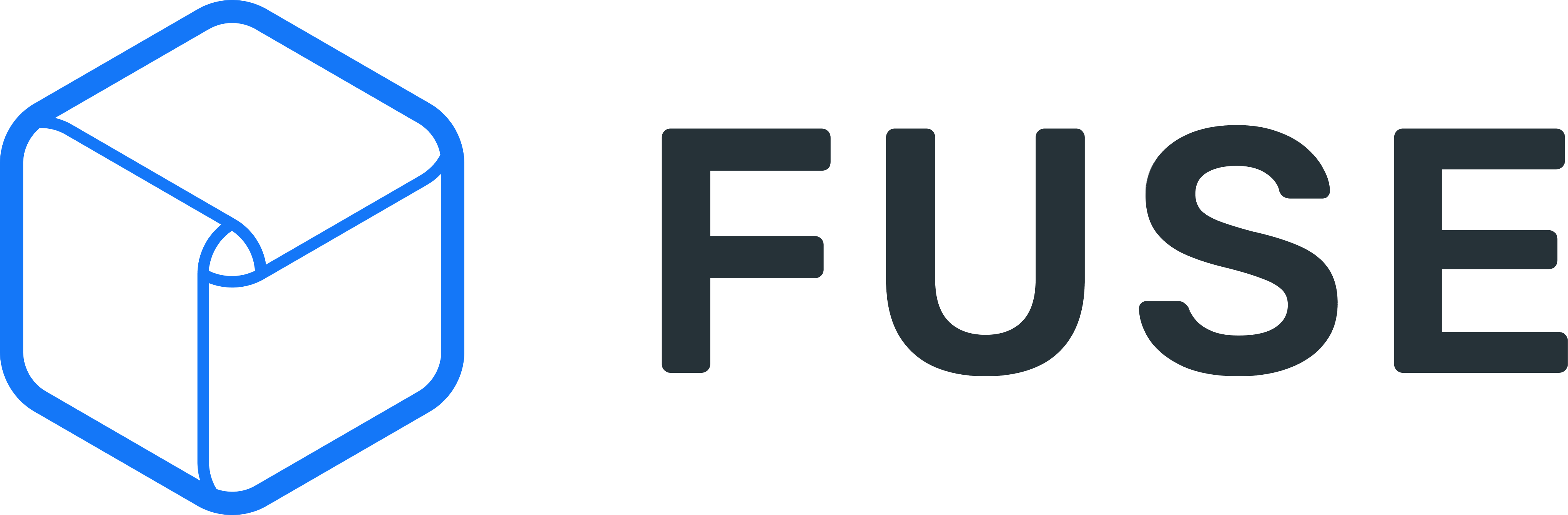 Fuze logo with dark text color