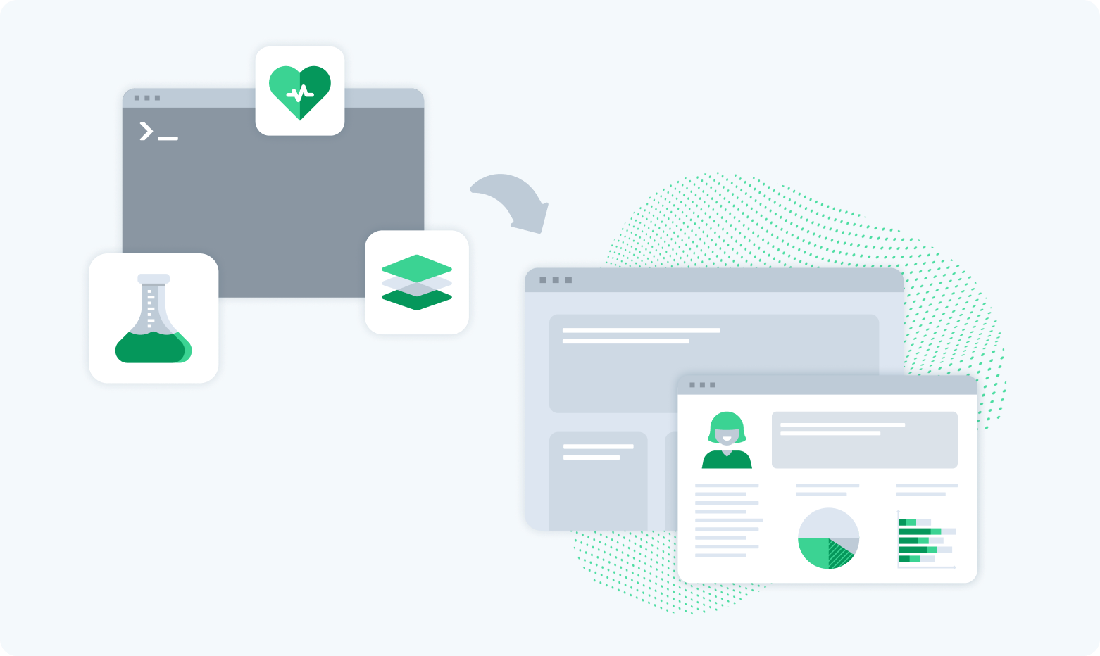 Iconography of clinical data being displayed via API