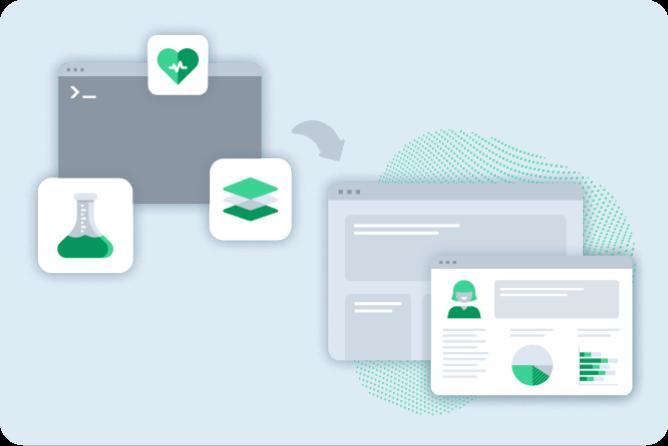 Iconography of clinical data displayed via API