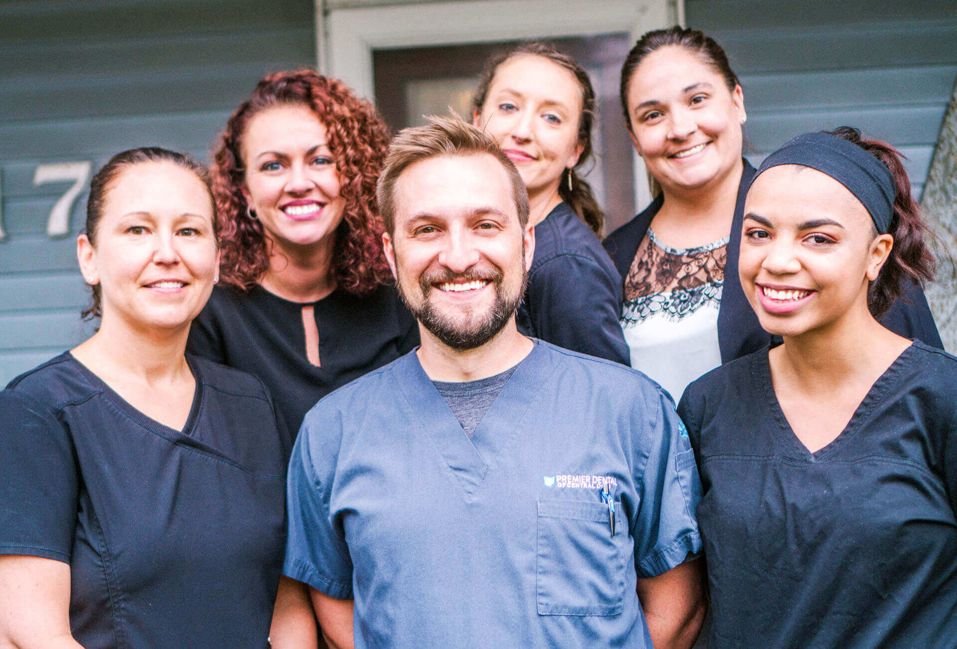 Dr. Doug and his team at Premier Dental of Johnstown welcoming patients
