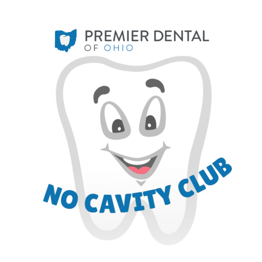 Tooth mascot promoting the No Cavity Club