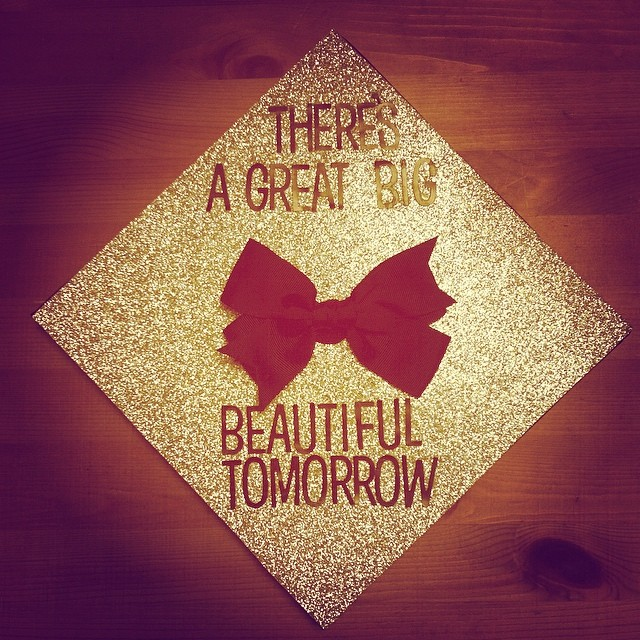 """new years decoration that says """"there's a great big beautiful tomorrow"""""""