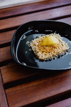 bowl of instant ramen noodle soup