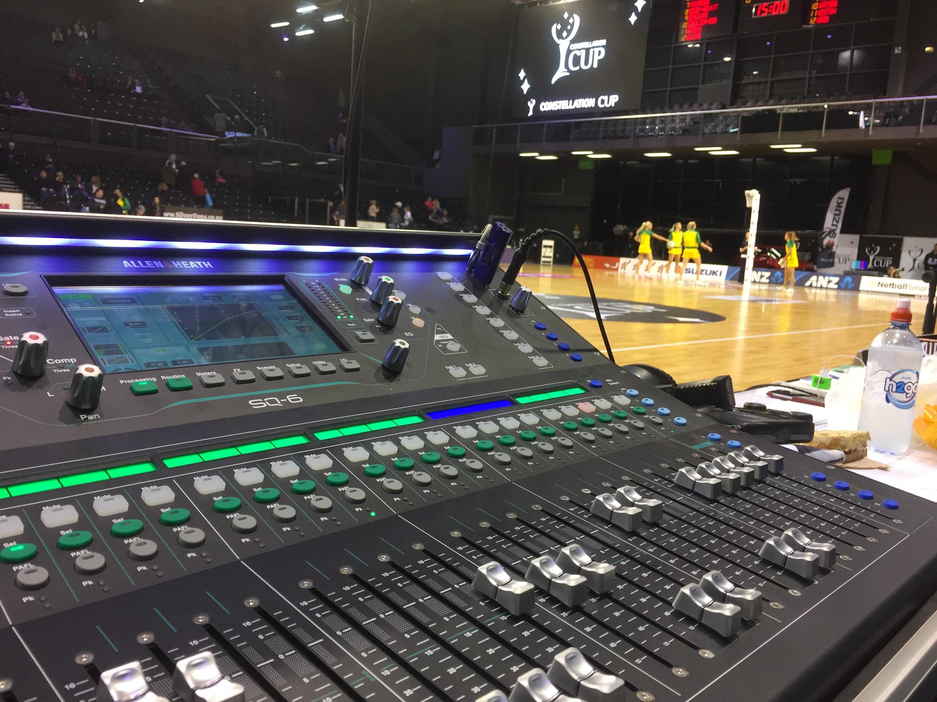 Audio Workshop provides Sound for the NZ Vs Australia Netball Test, Wellington.