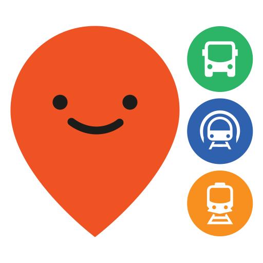 Logo for the app Moovit.