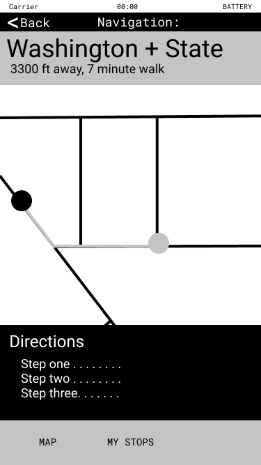Image showing directions and a map on a phone screen