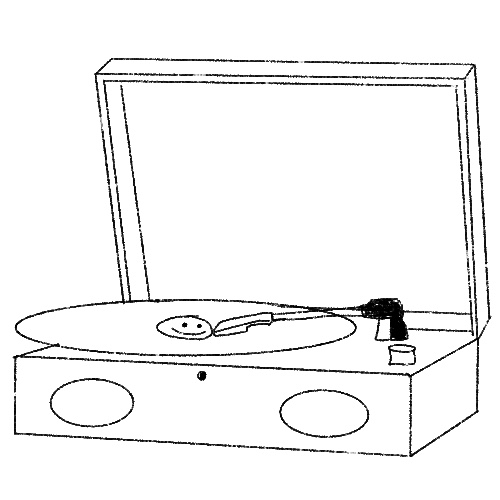 Illustration of a record player