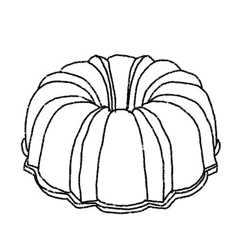 Illustration of a bundt cake pan