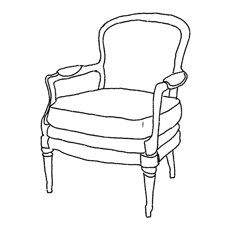 Illustration of an arm chair