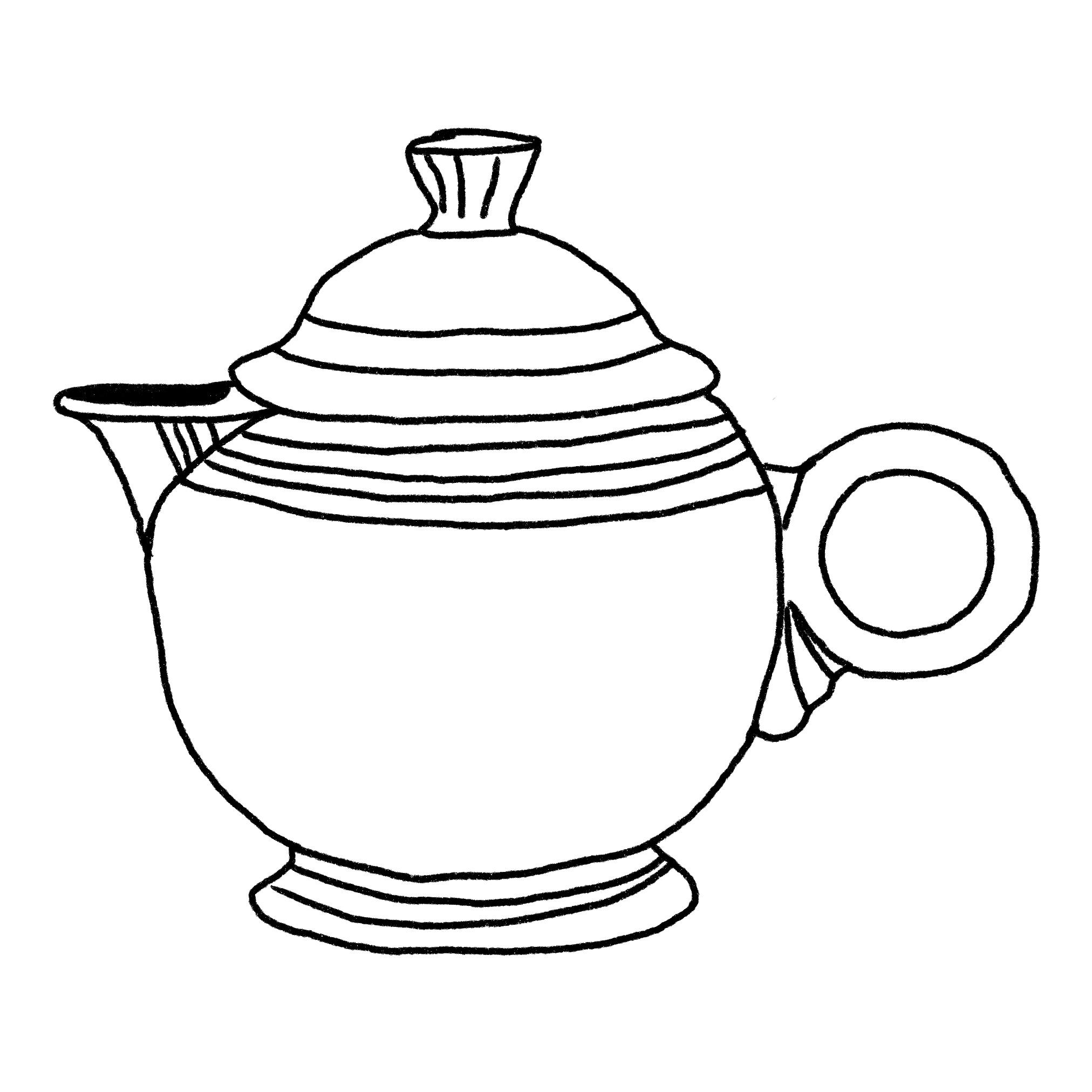 Illustration of a teapot