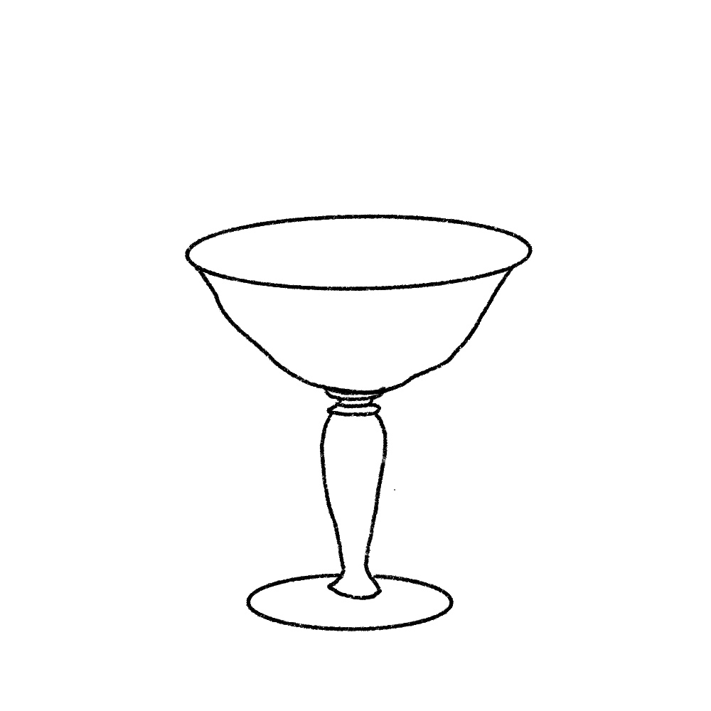 Illustration of a champagne coupe
