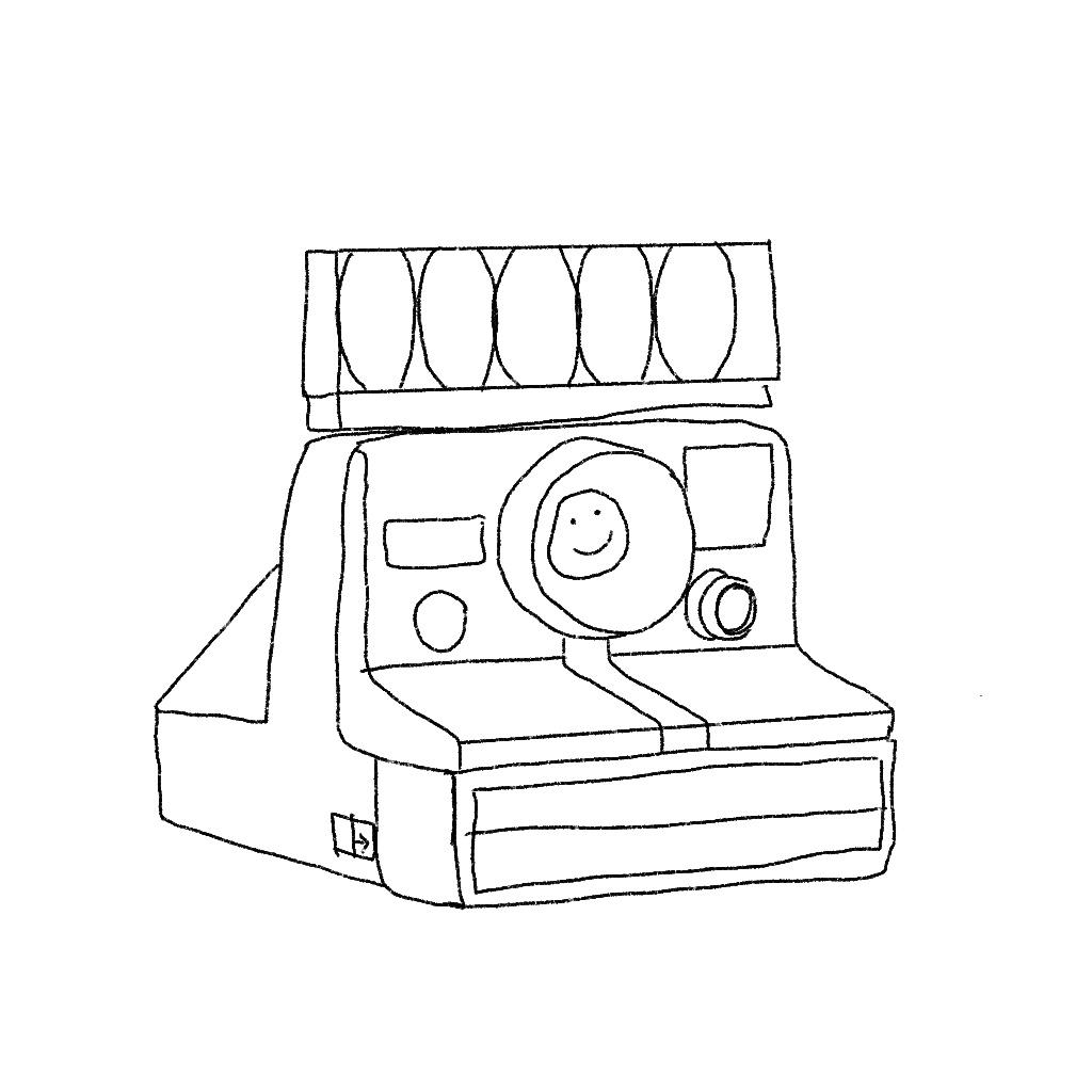 Illustration of a Polaroid camera