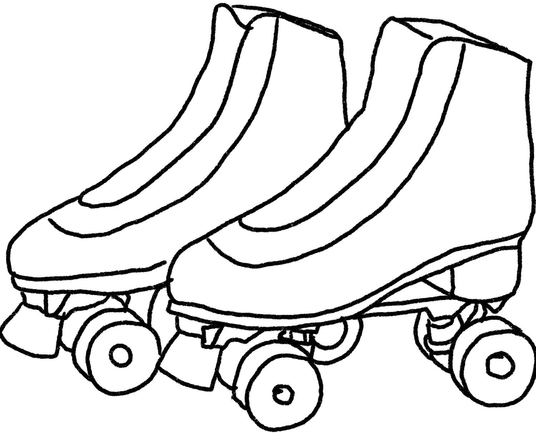 Illustration of roller skates