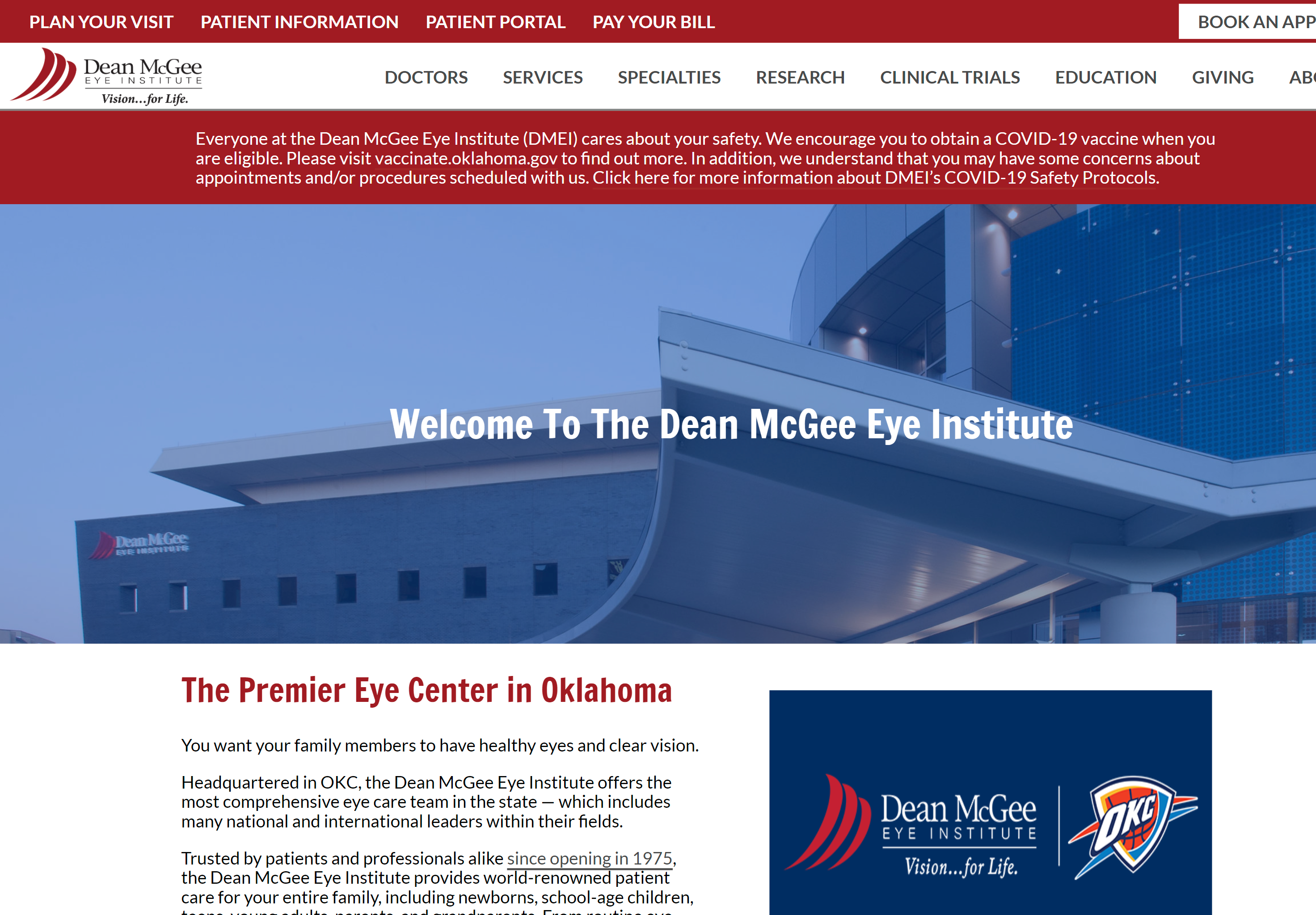 Dean McGee Eye Institute
