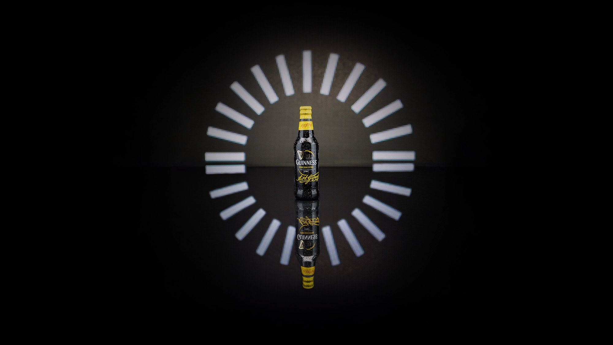 Campaign image of Guinness bottle for Guinness Campaign #MadeOfBlack Made of Black | Michelle Wastie Photography